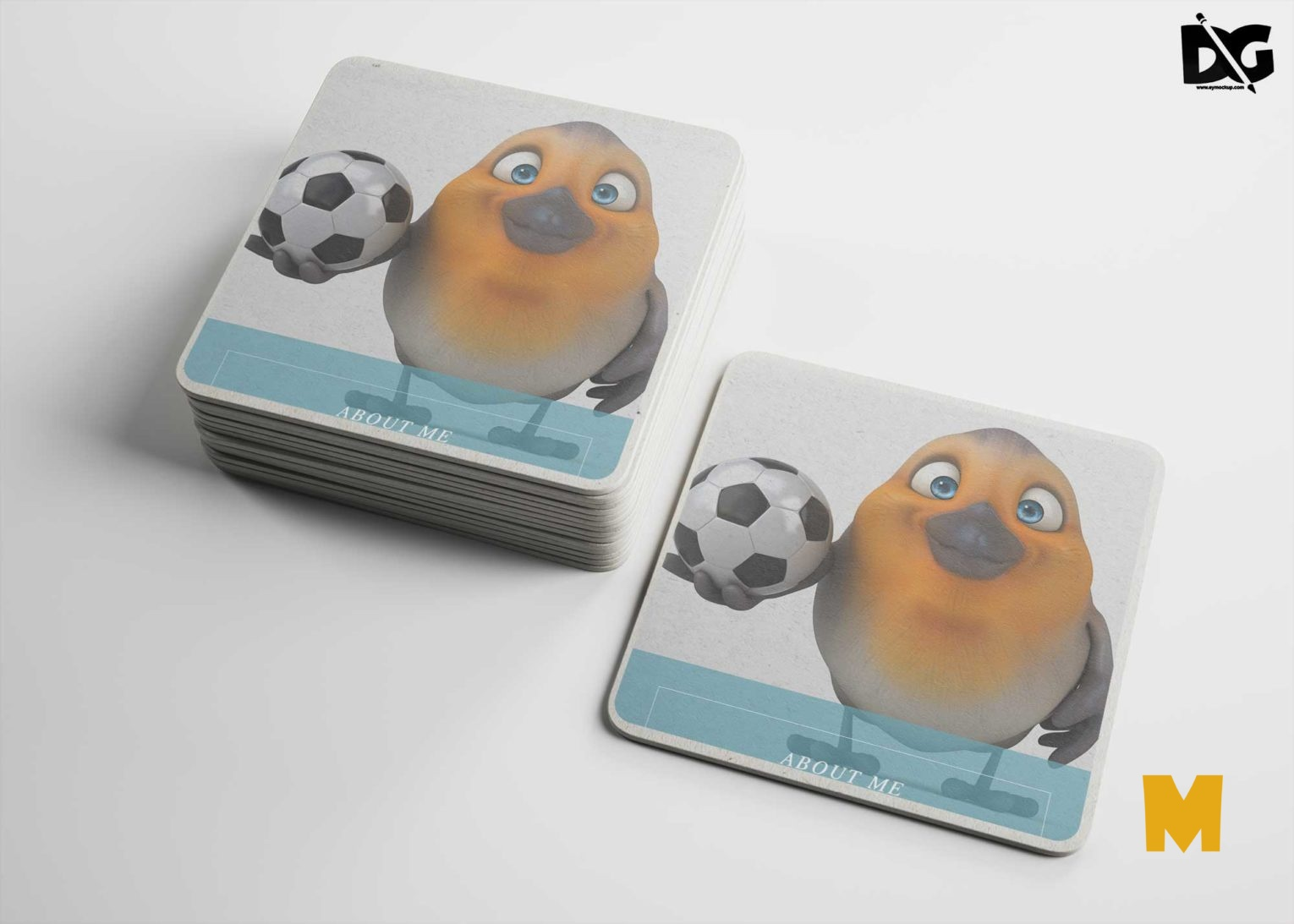 Square Coasters Mock-ups