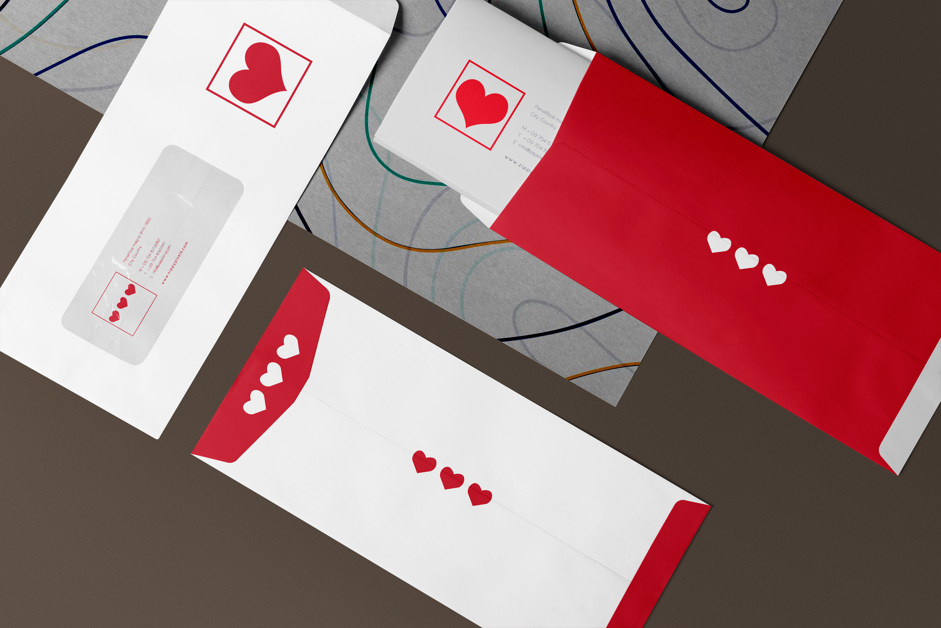 Stationery Envelope Mockup