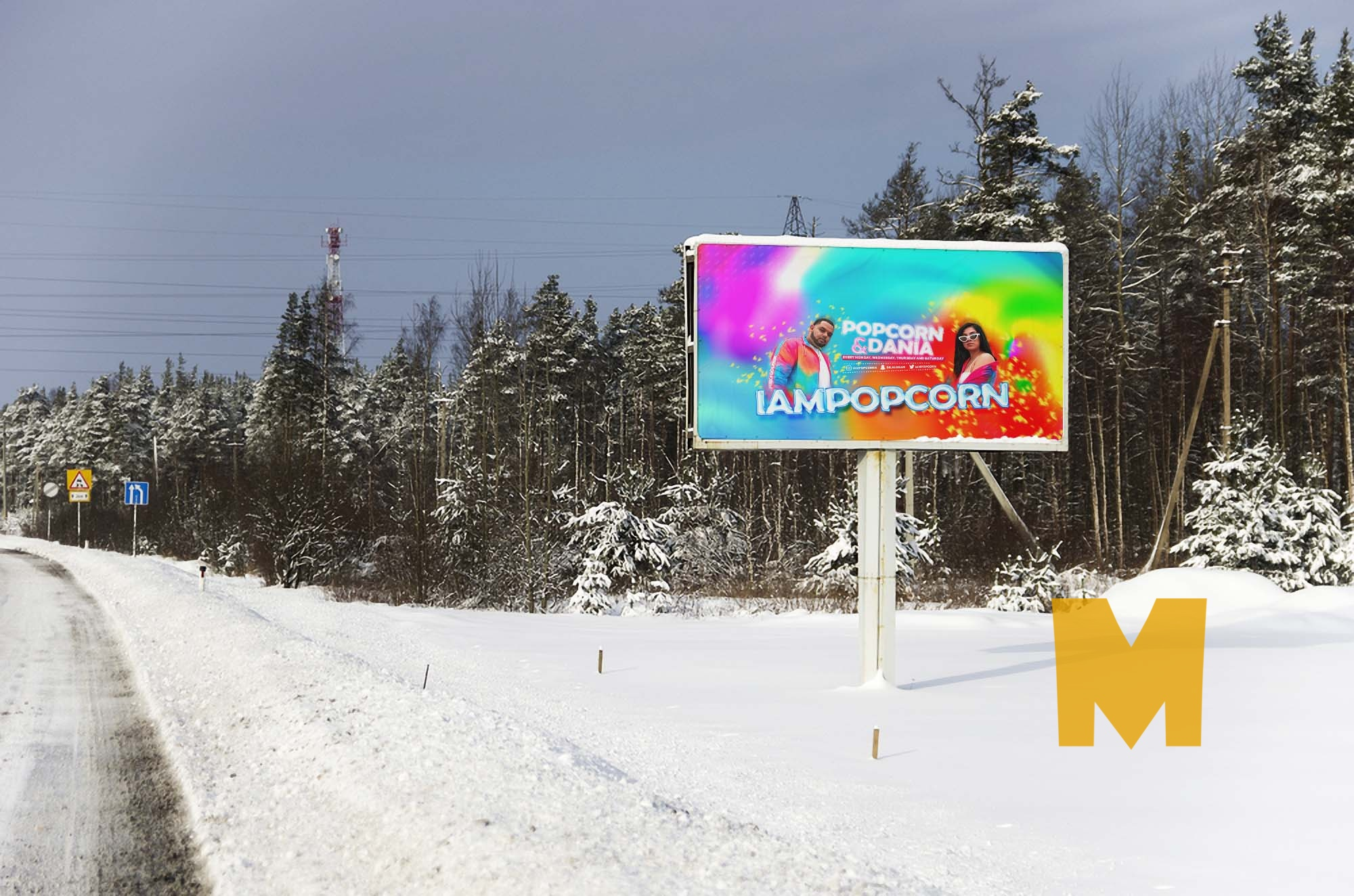 Winter Show Billboard Mockup