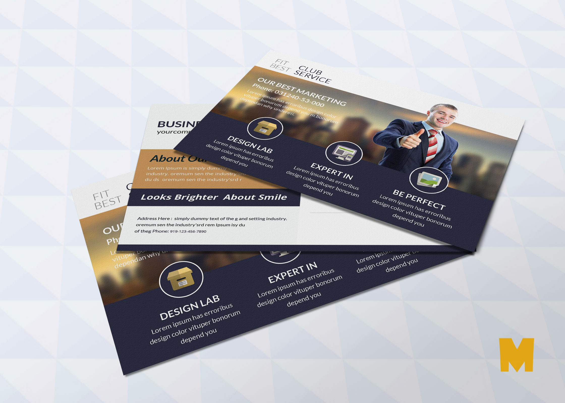 Consultant Postcard Design Template