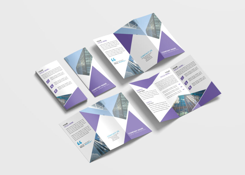 Consultants Business Tri-Fold Brochure Design Templates