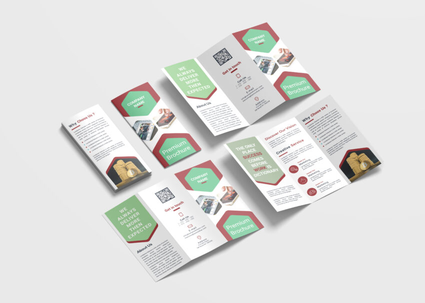 Marketing Business Tri-Fold Brochure Design Template