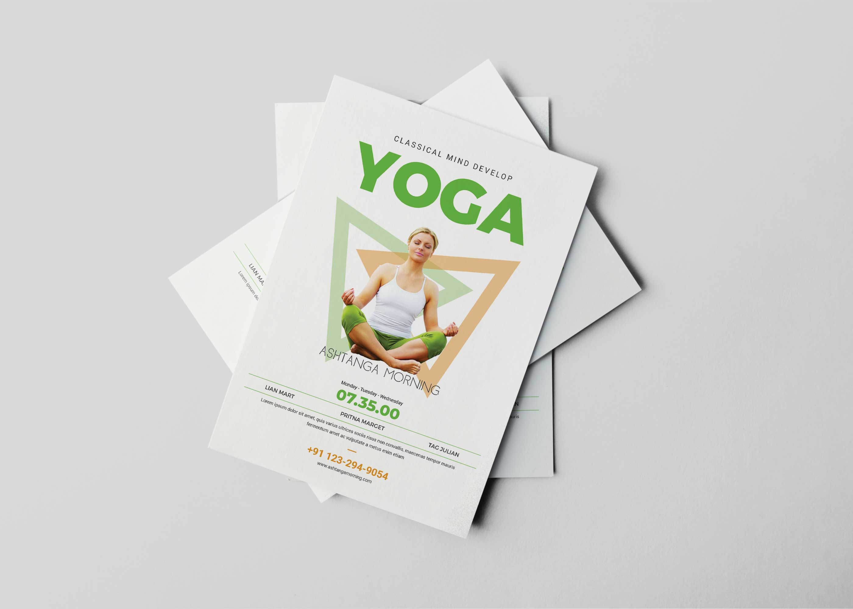 Meditation Flyer Design Template