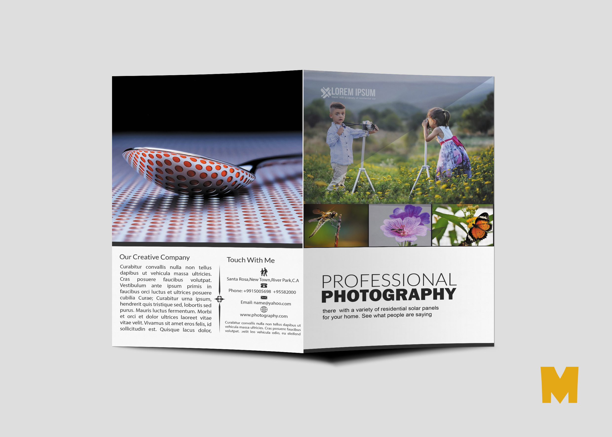 Agency Bi-Fold Brochure Design Template