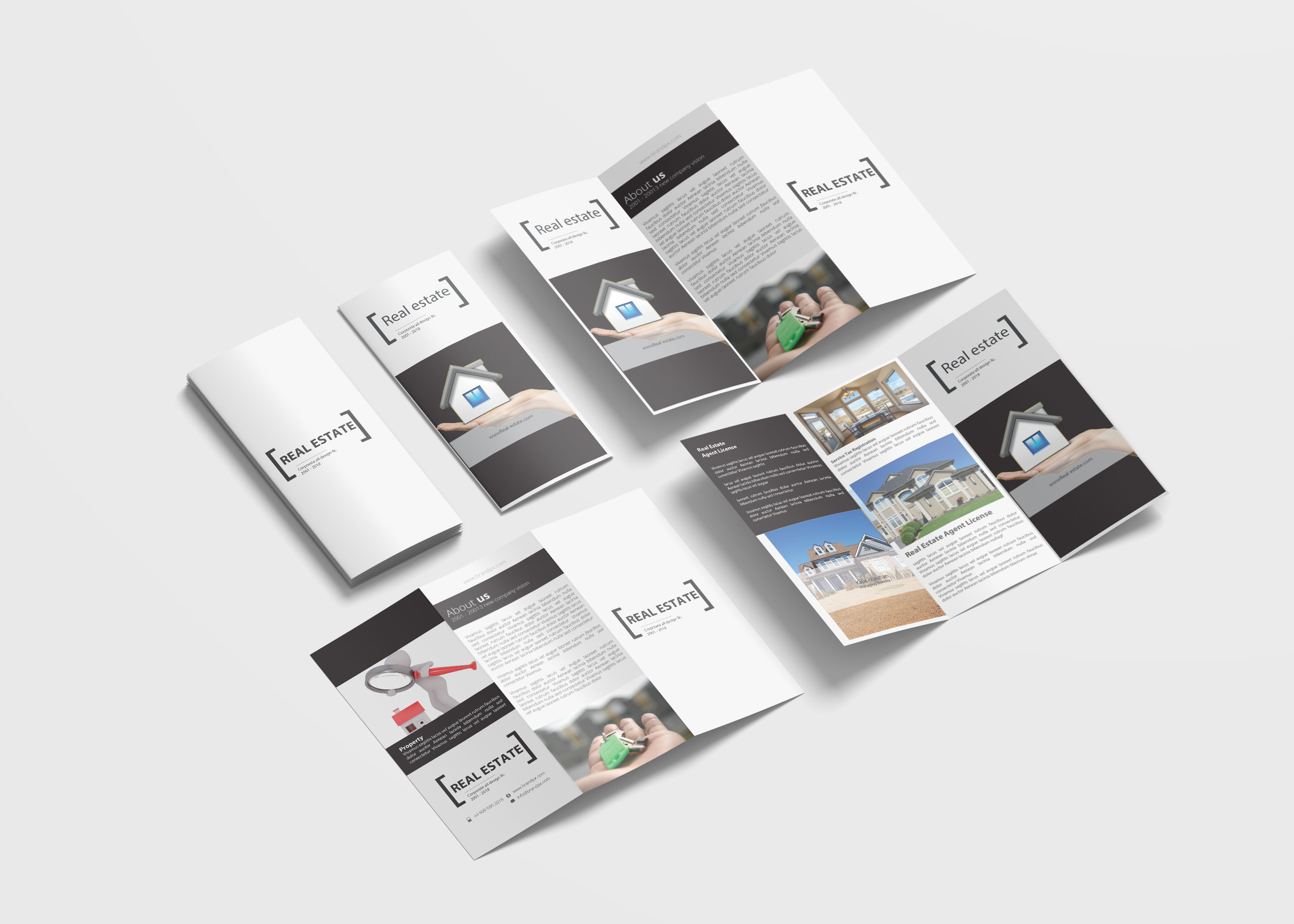 Real Estate Business Tri Fold Brochure Design
