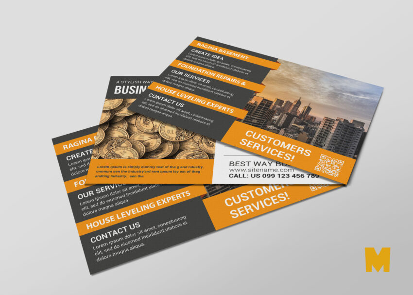 Technology Postcard Design Template
