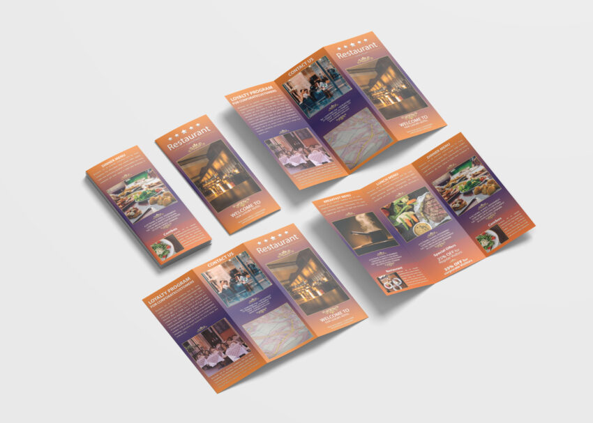 Restaurant Tri-Fold Brochure Design Template