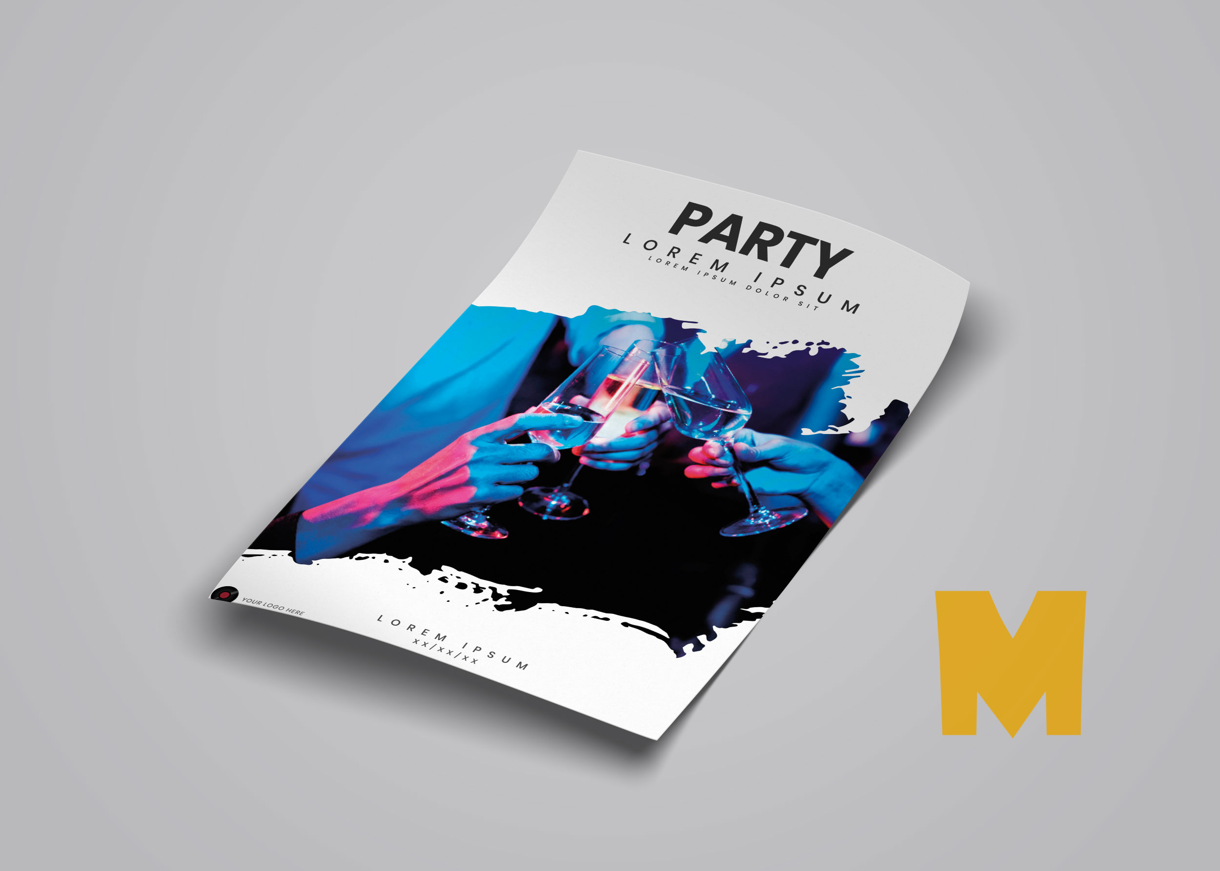 Flyer Design Mockup PSD