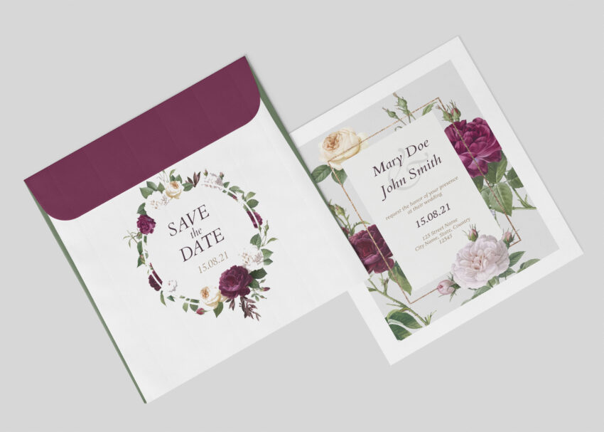 Invitation Design Envelope Mockup