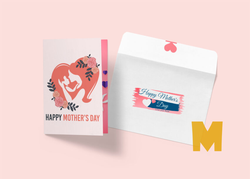 Mother's Day Greeting Card Mockup
