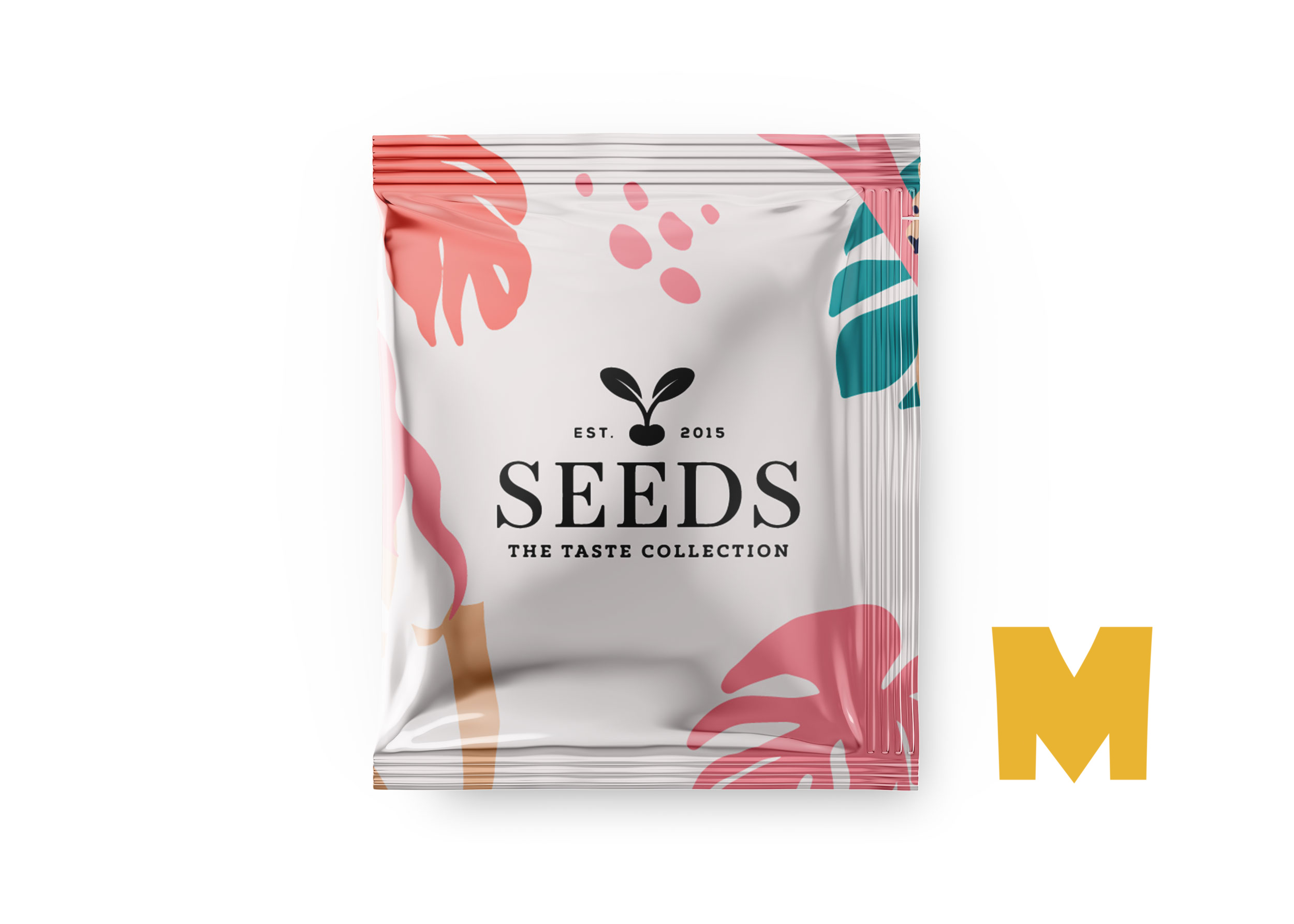 Free New Sachet Label Mockup