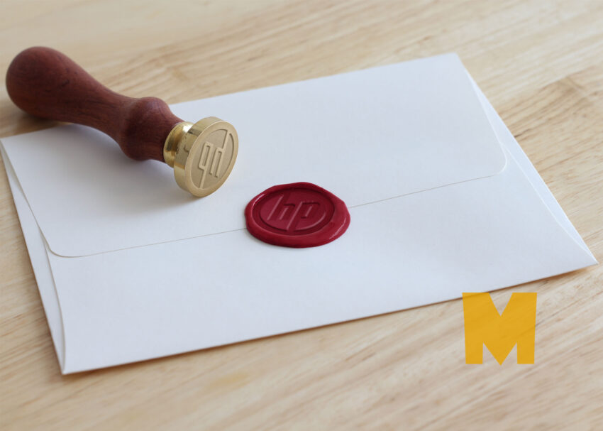 New Wax Stamp Design Mockup
