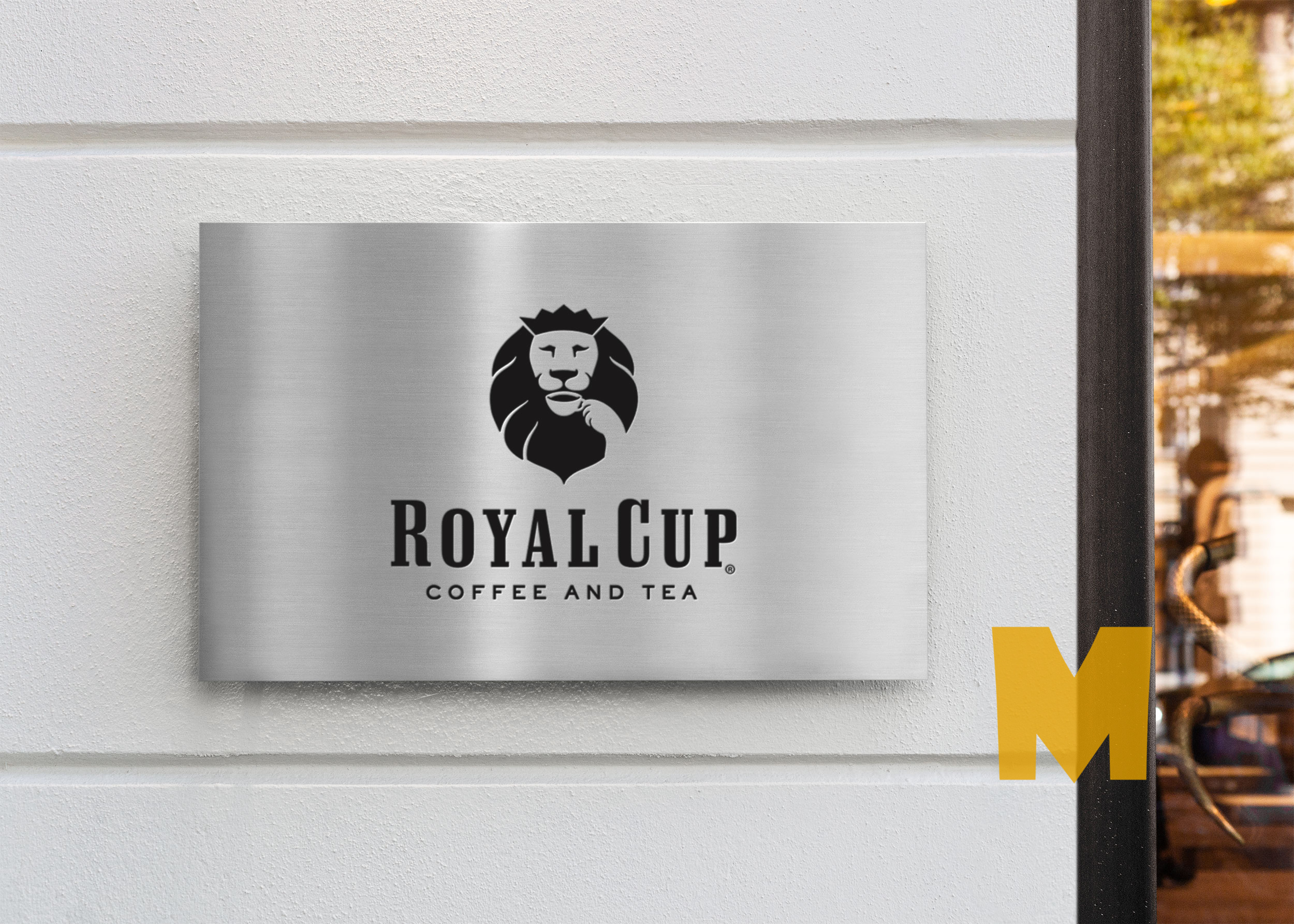 Free Company Door Sign Mockup