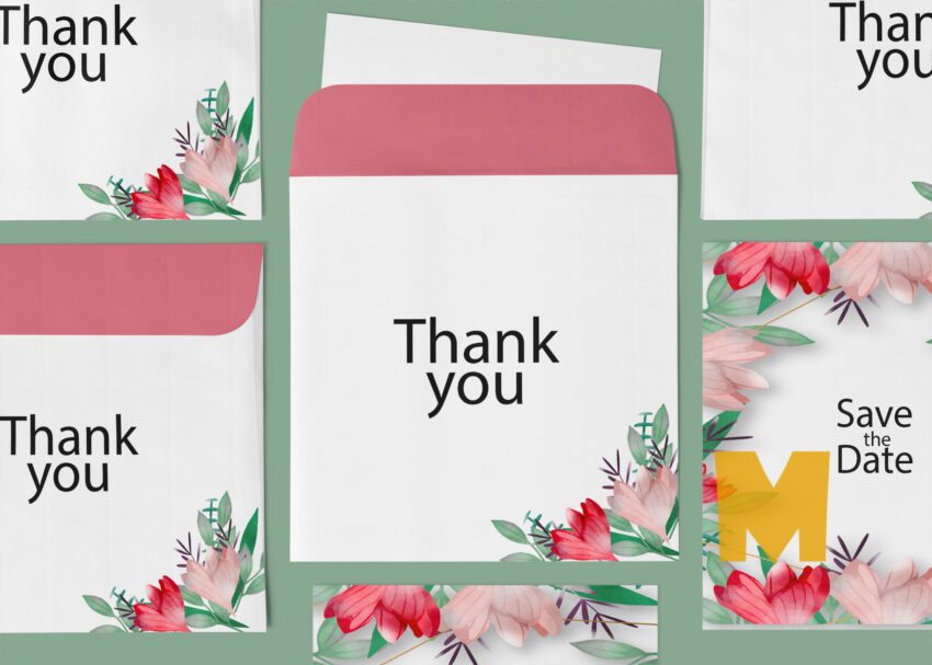 Thank You Card Envelope Mockup