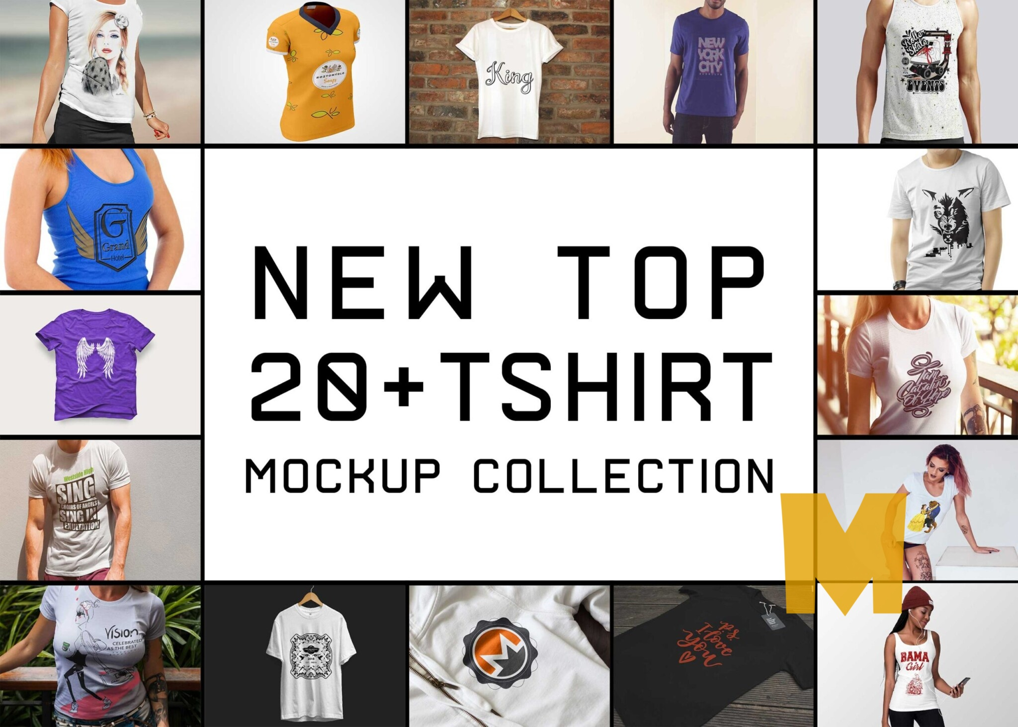 New Top 20+ Tshirt PSD Mockups