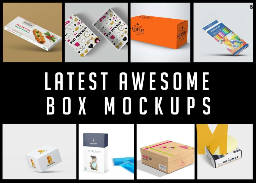 Latest Awesome Box Mockups