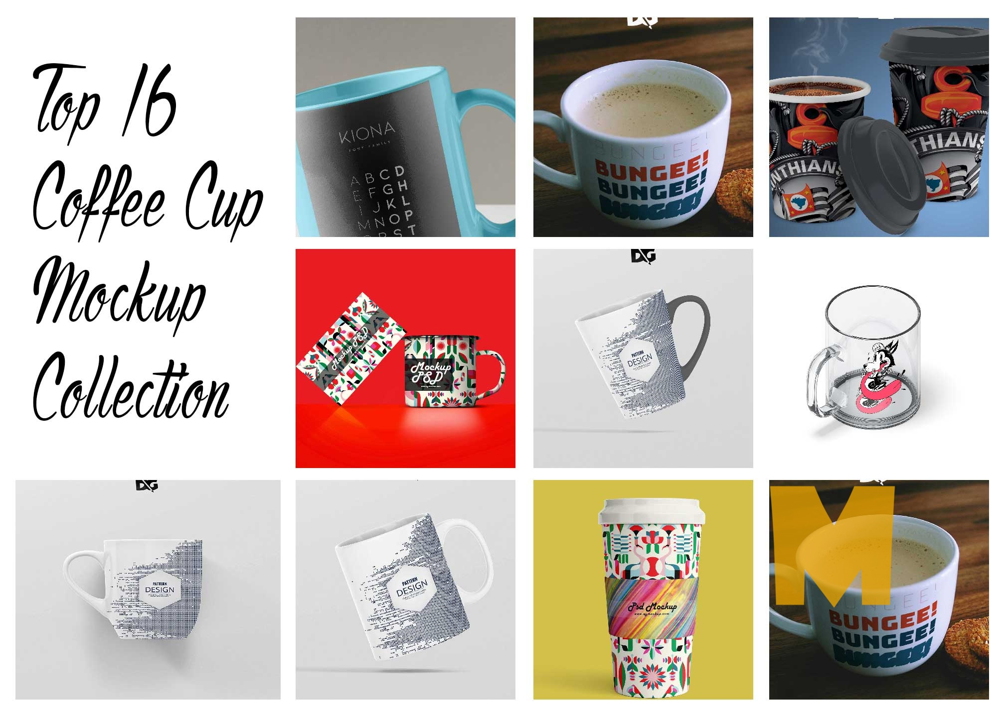 Top 16 Coffee Cup Mockup Collection 2016