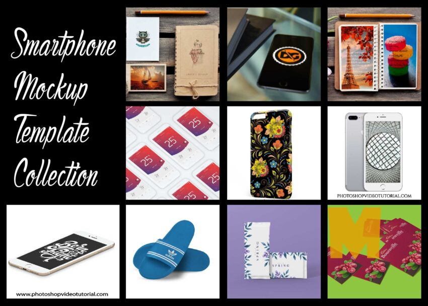 Smartphone Mockup Template Collection