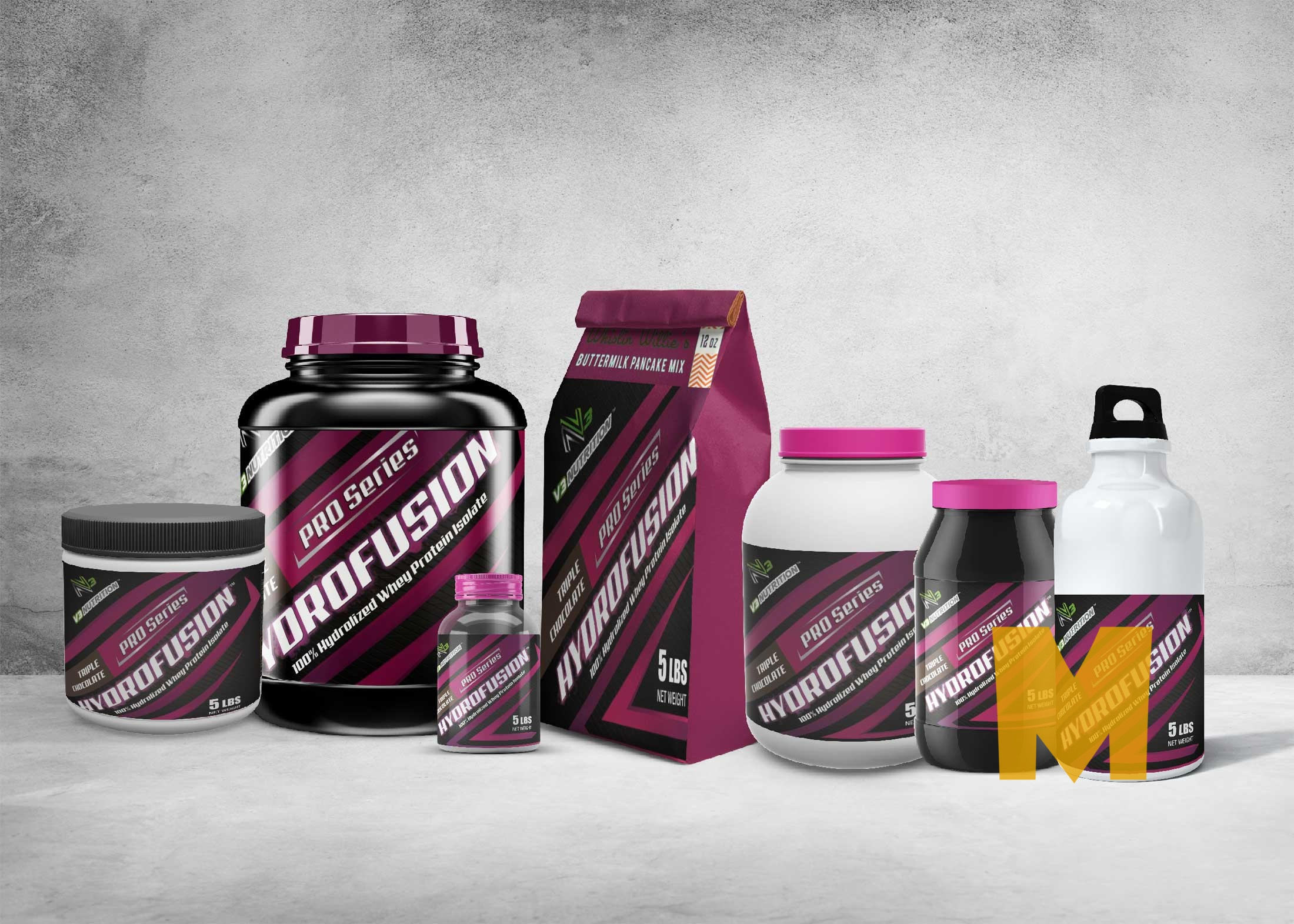 Supplement Scenes Packaging Mockup