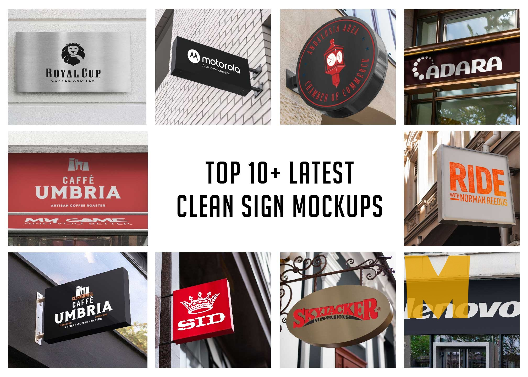10+ Latest Clean Sign Mockups