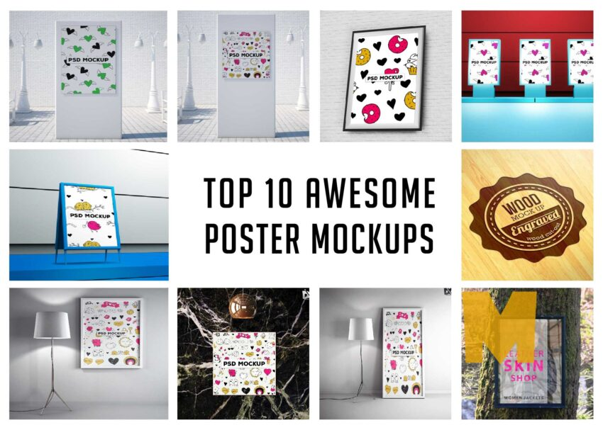 10 Awesome Poster Mockups