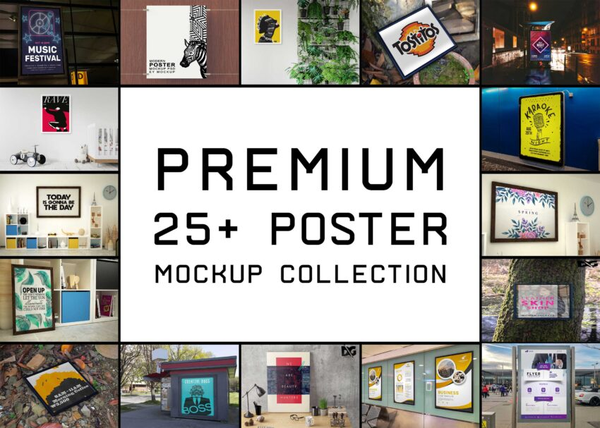 Latest Top 25+ Poster Mockups