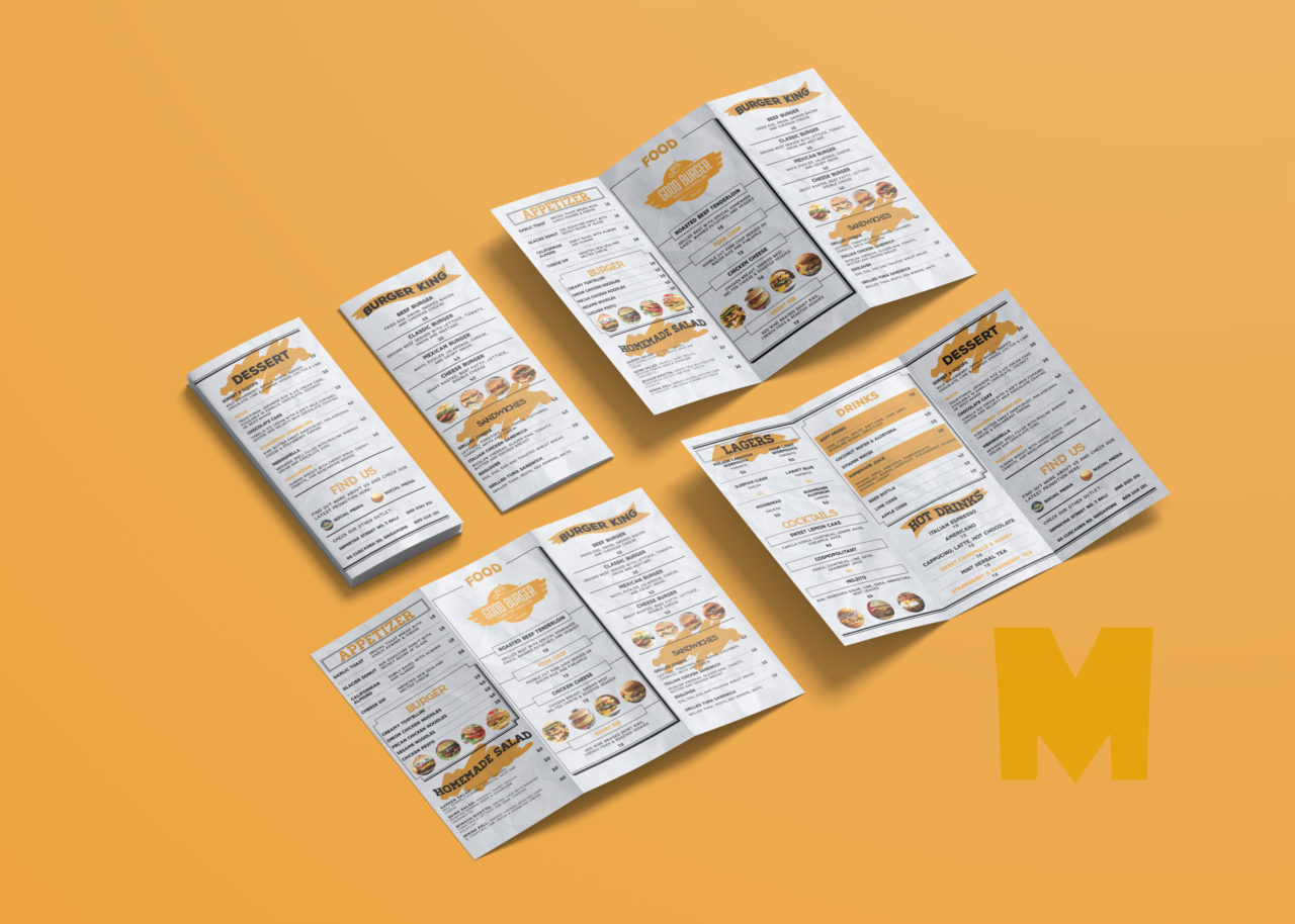 Attractive Cafe Bi-Fold Template