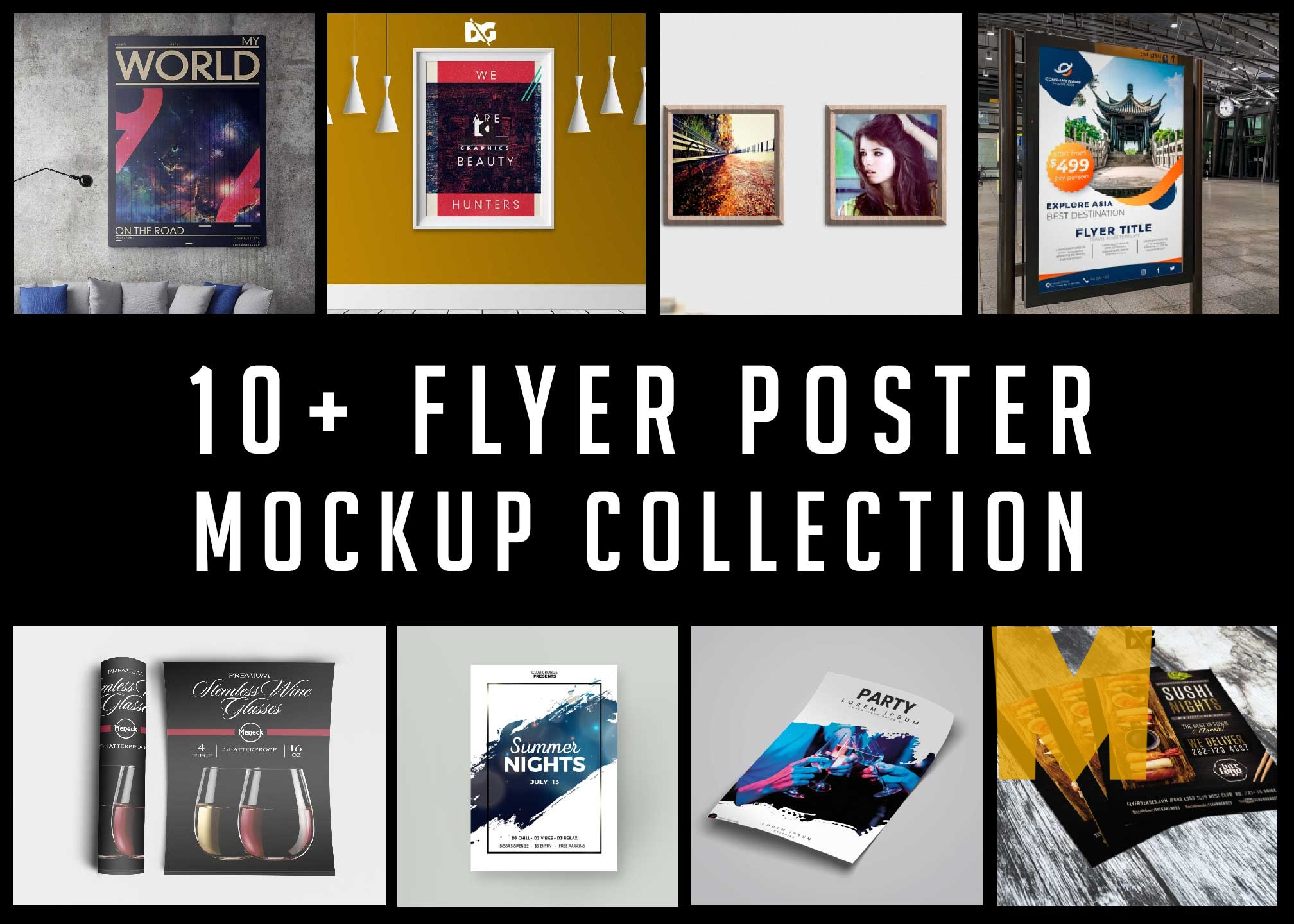 Latest Top 10 Premium Flyer Poster Mockups