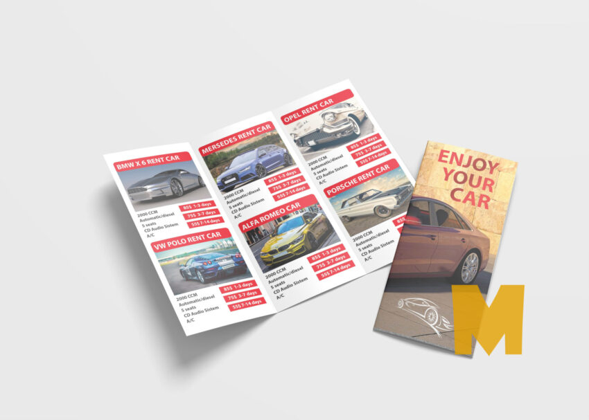 Rental Tri Fold Brochure Template