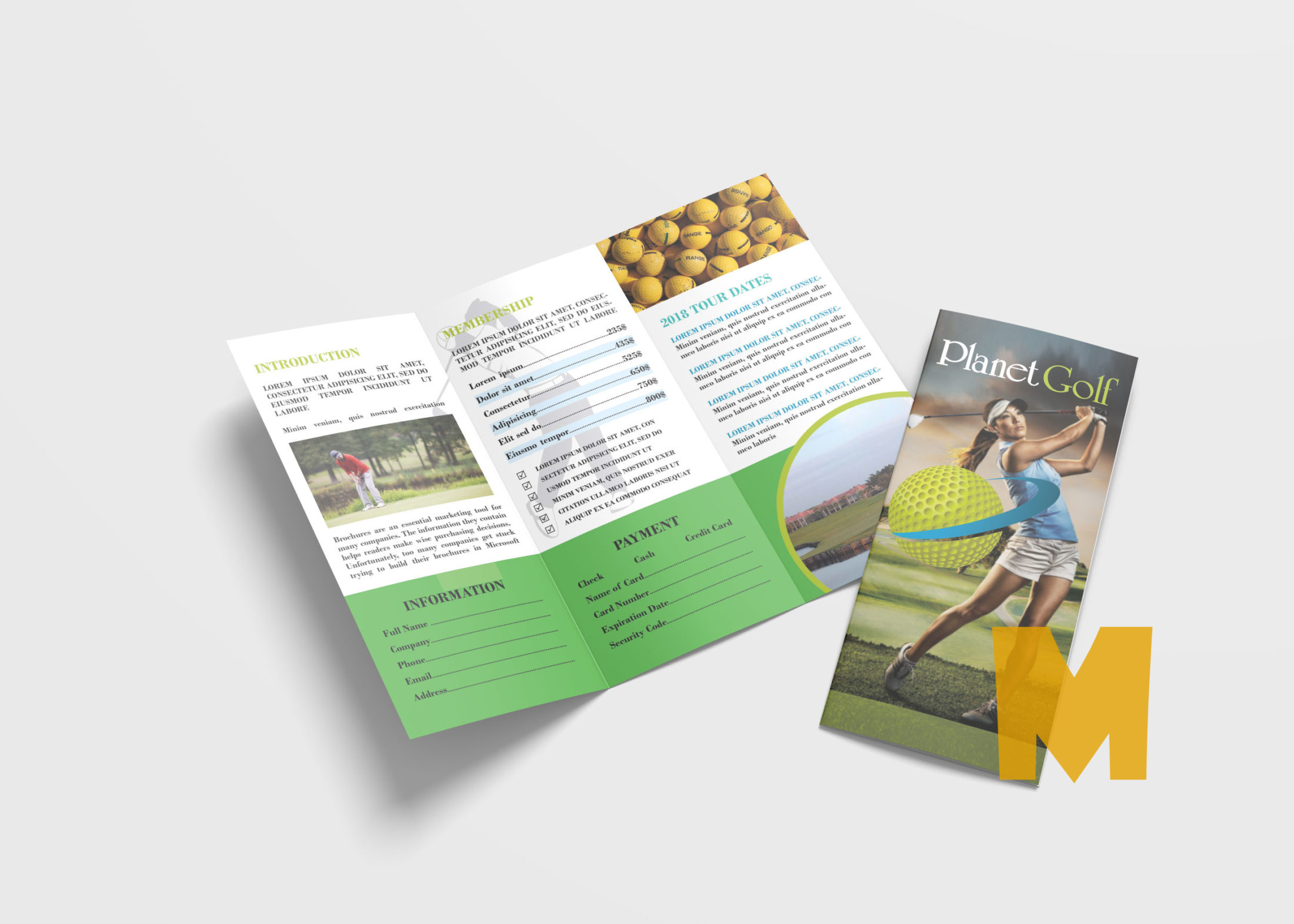 Golf Tri-Fold Brochure Template