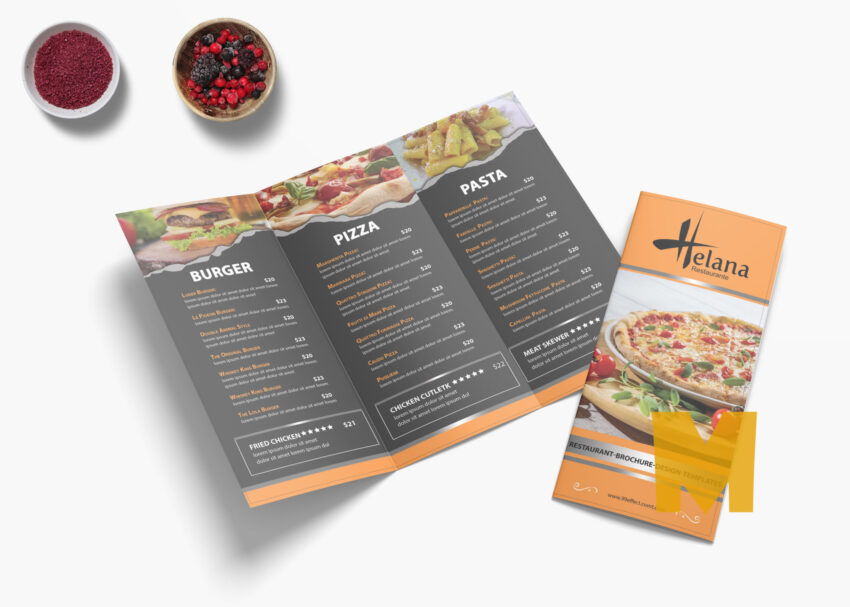 Creative Cafe Tri-Fold Menu Template
