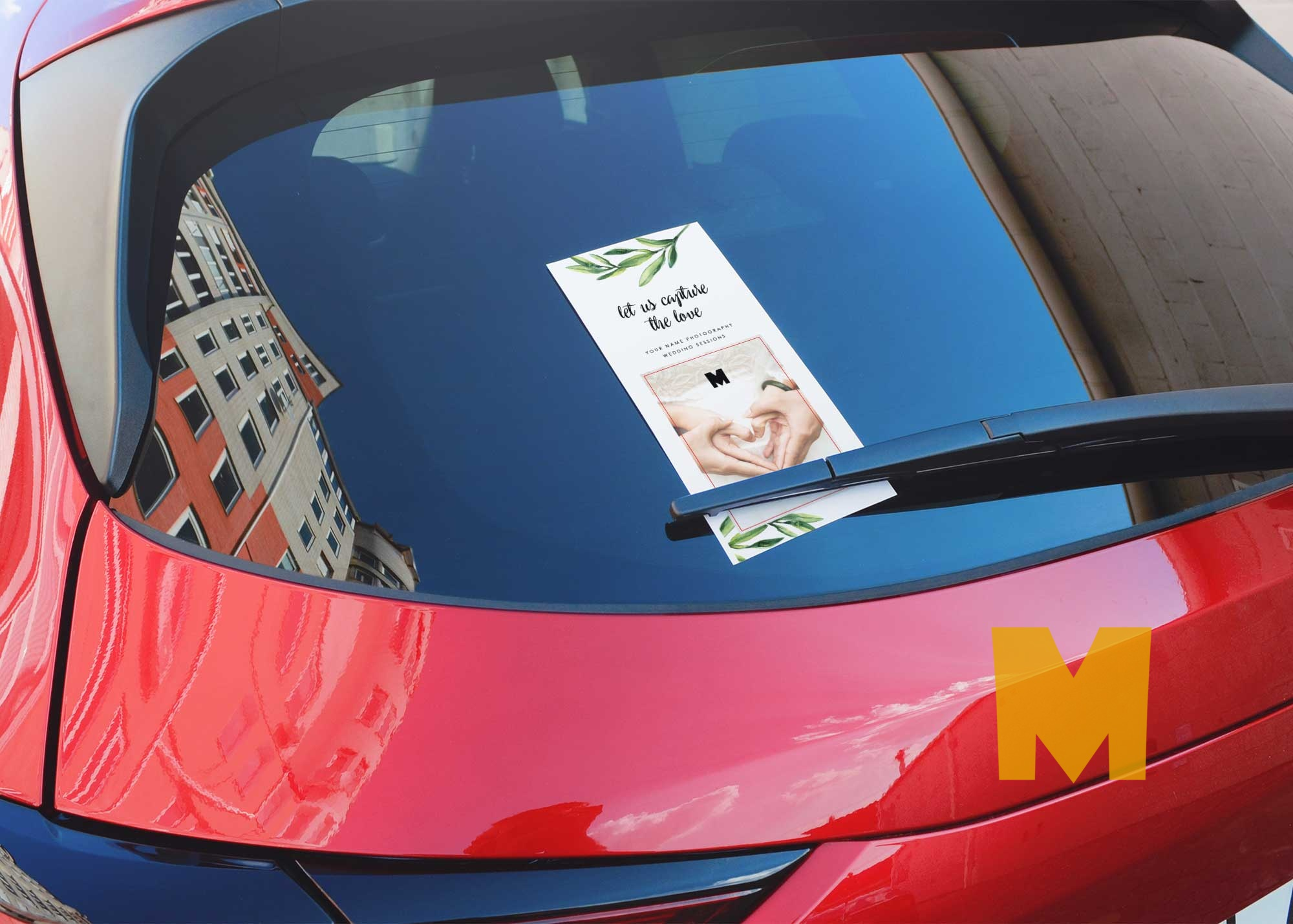 Car Rack Card Flyer PSD Mockup