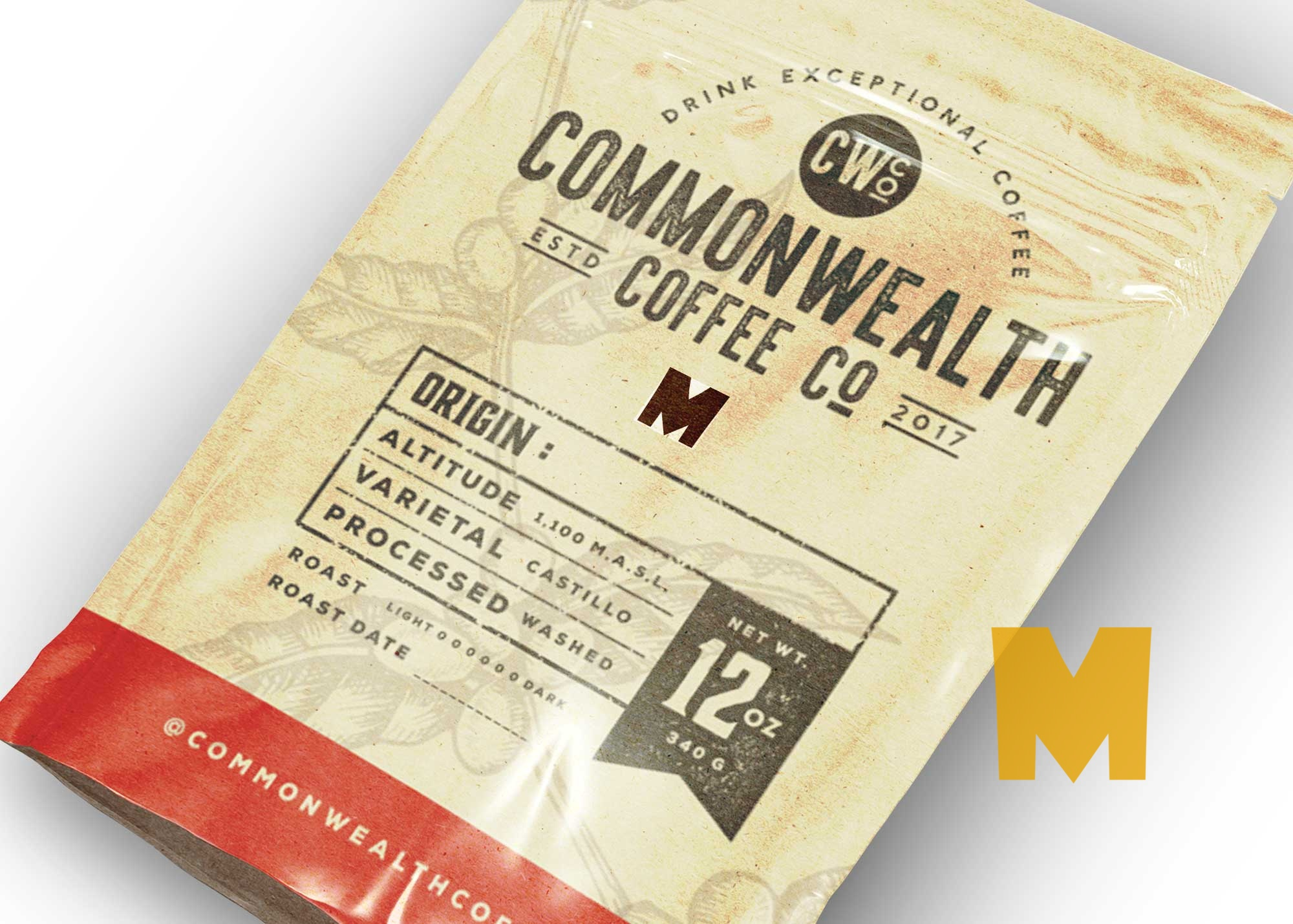 Coffee Bag Packaging Mockup