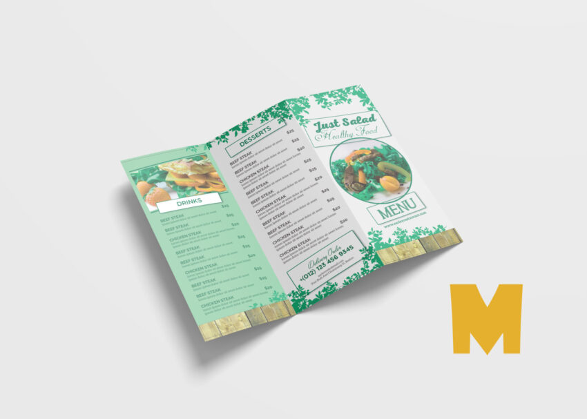Food Tri-Fold Design Template