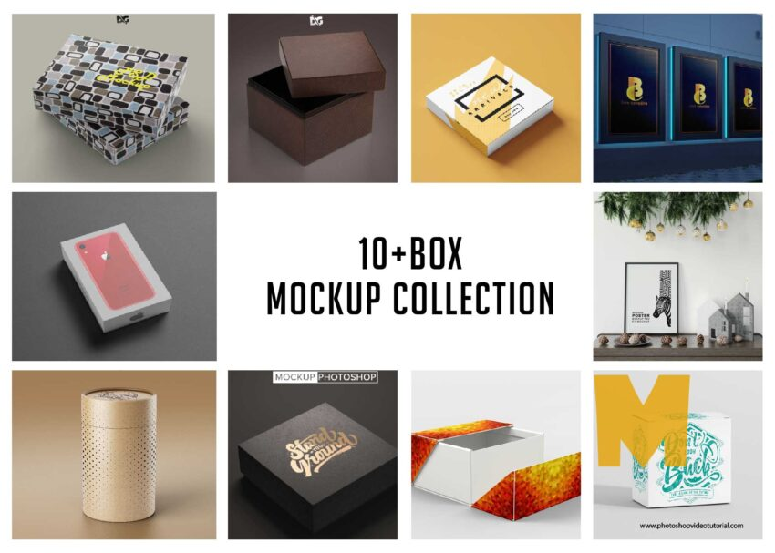 10+ Free Awesome Box Mockups