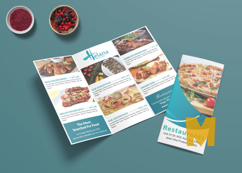 Pizza Corner Tri-Fold Menu Template