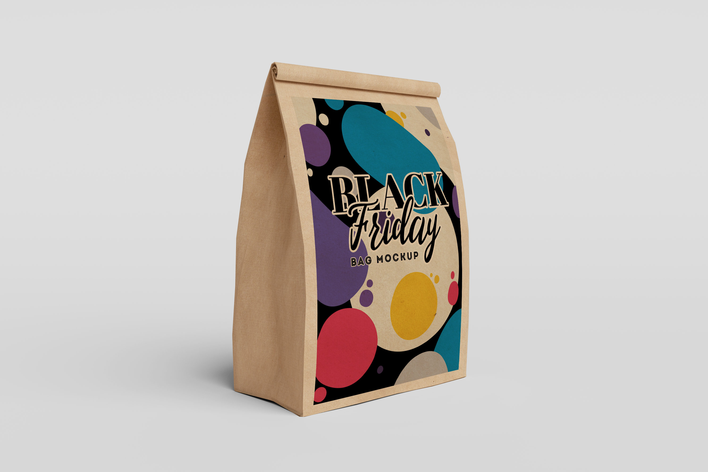 Brown Paper Single Bag Mockup