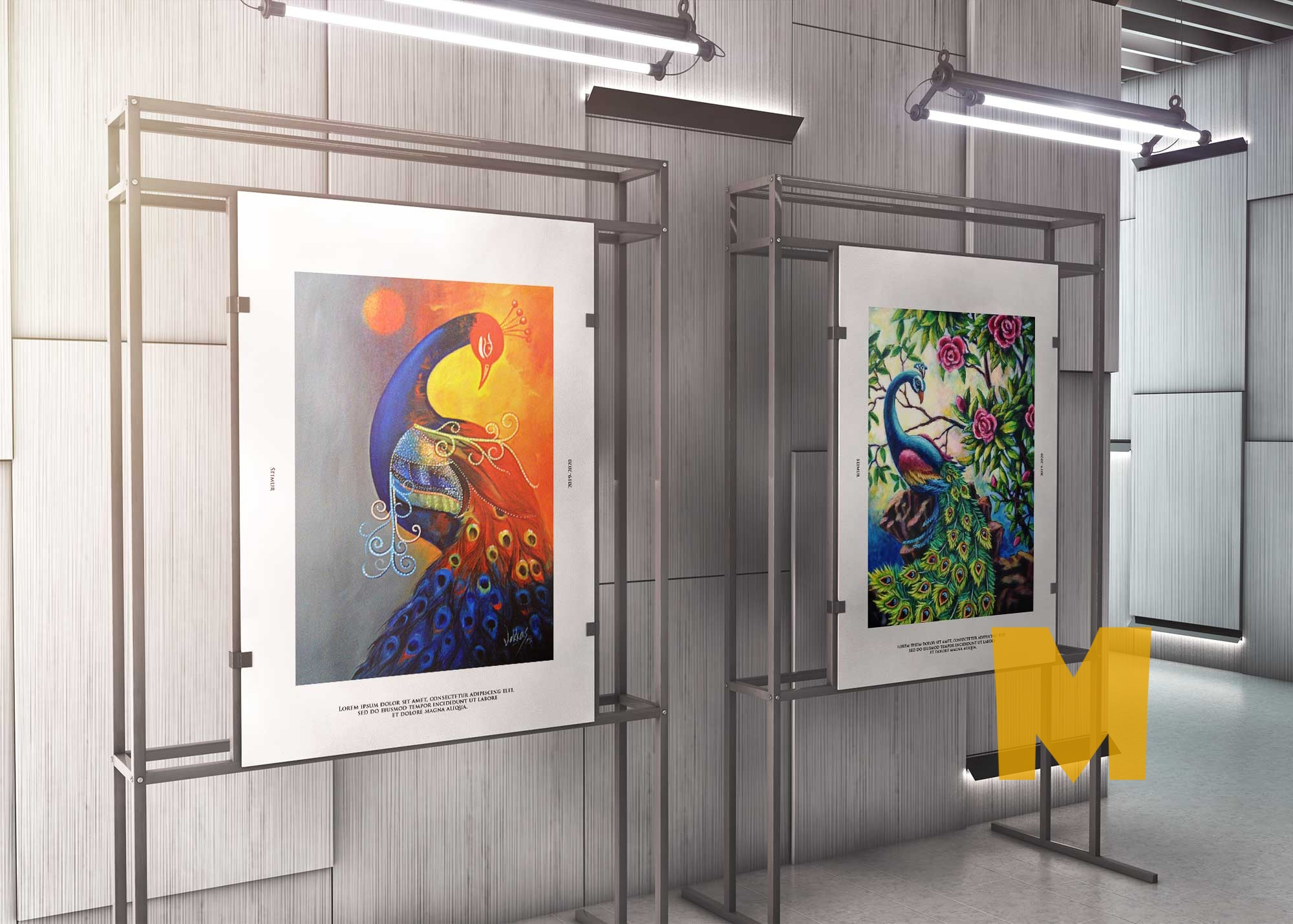 Canvas Art Gallery PSD Mockup