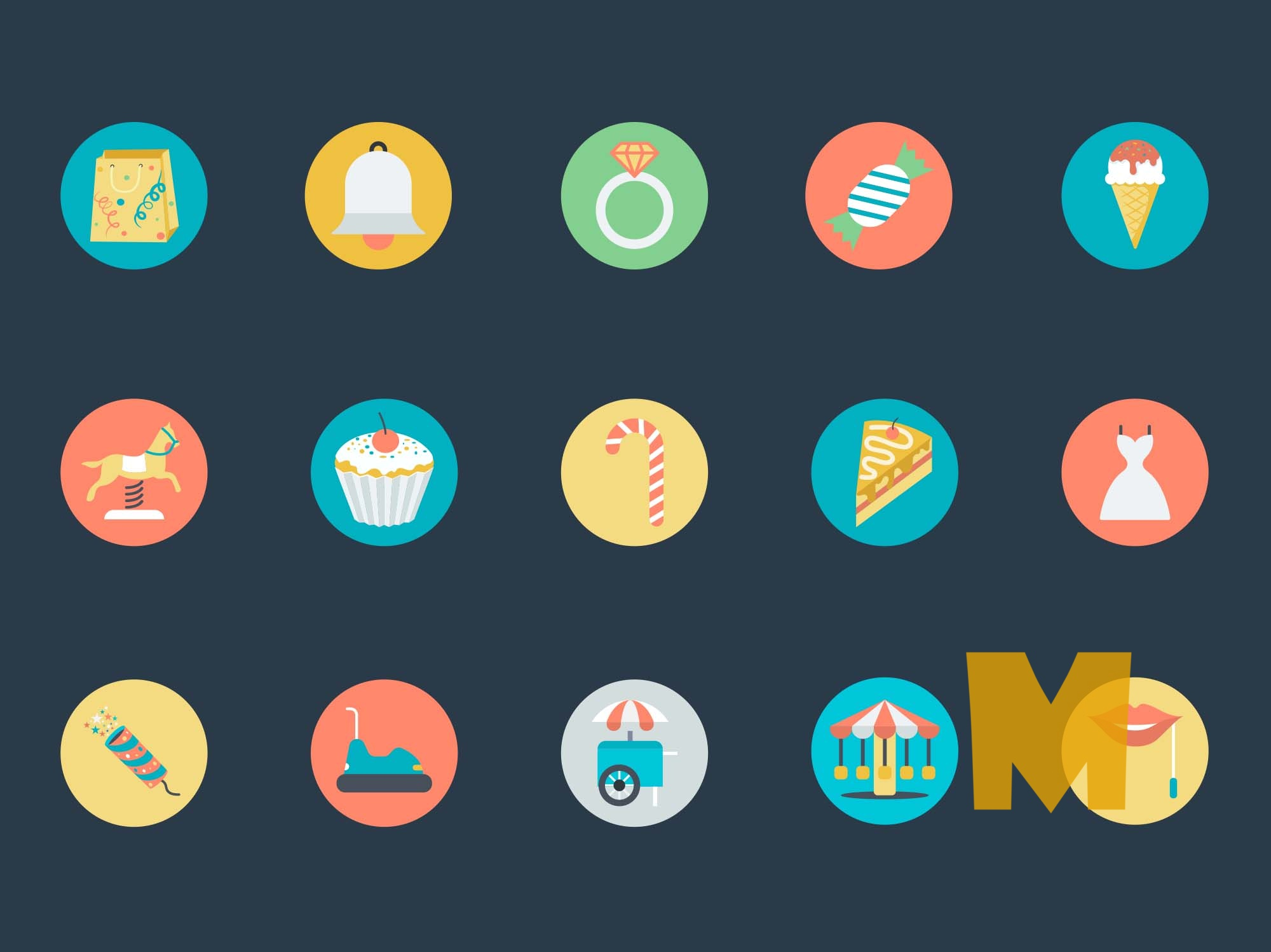 Celebration Party Icons Set