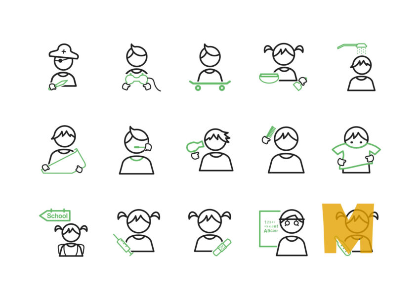 Children 's Good Habits Icon Sets
