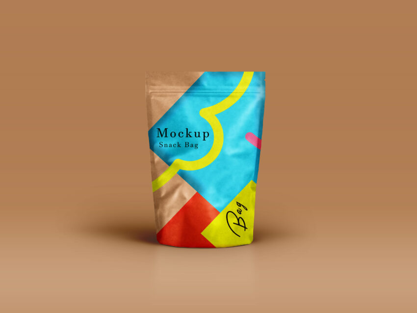 Colorful Page Bag Label Mcokup