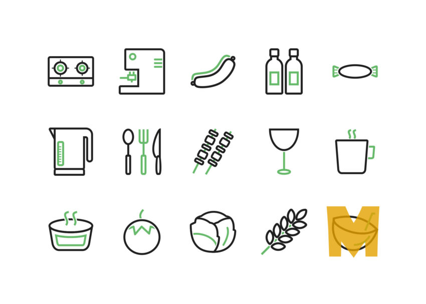 Comfort Food Icon Sets