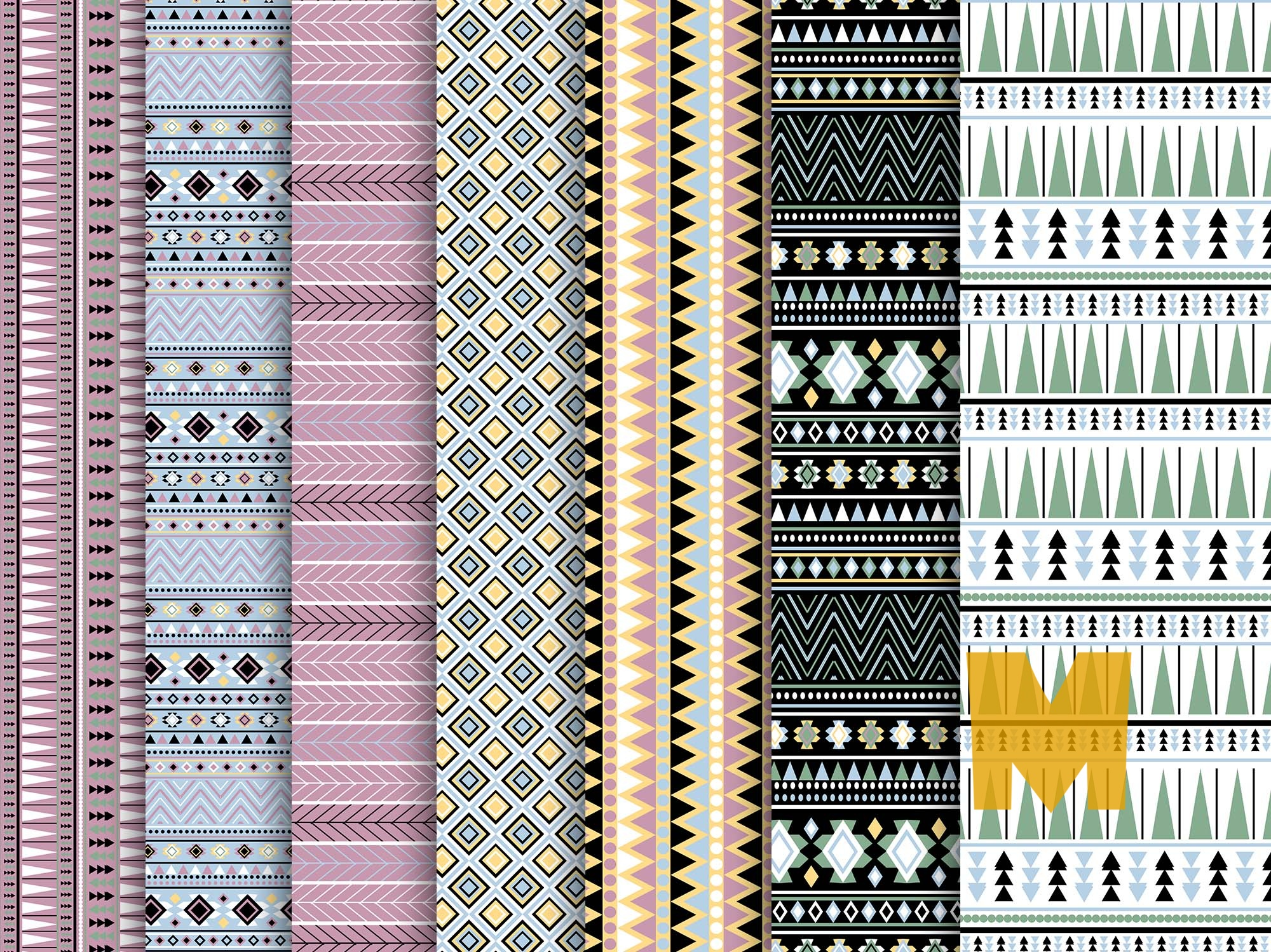 Fabric Patterns Set