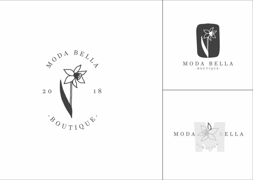 Floral Wedding Logo Design
