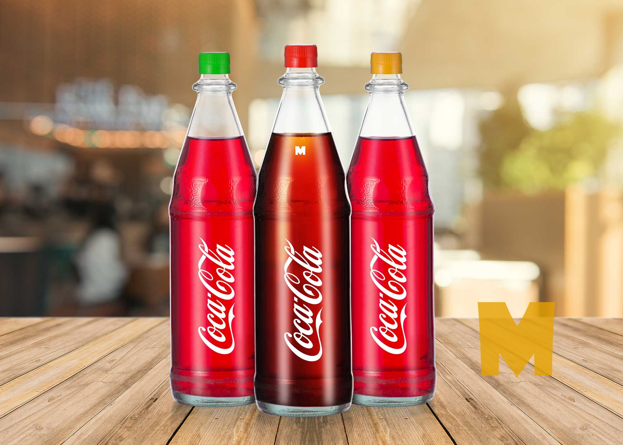 Glass Soda Bottle Mockup