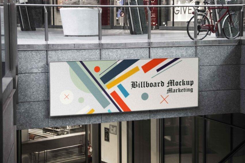 Metro Station Billboard Mockup