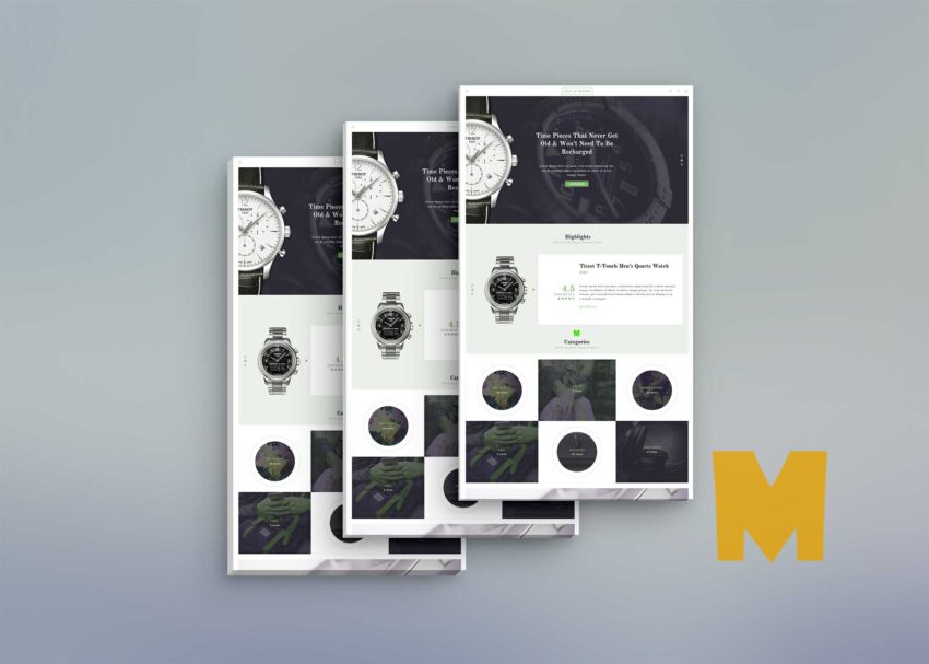 Mobile App Screen Front View Mockup