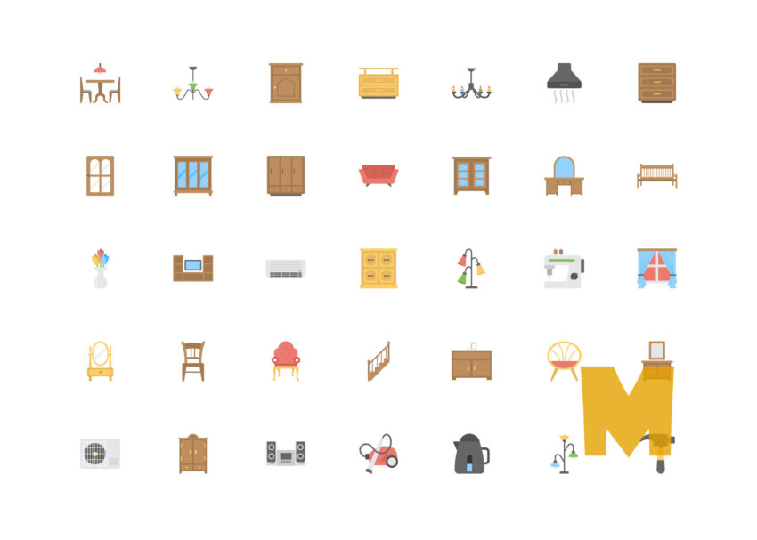 Object Furniture Icon Set