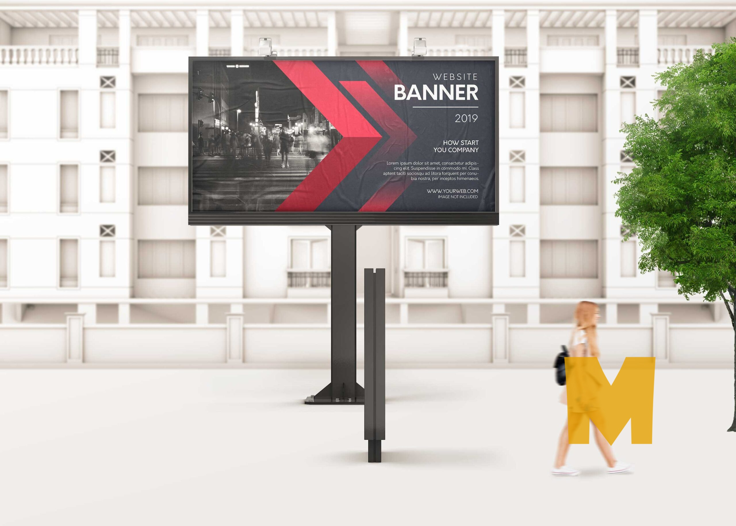 Outdoor Advertising Billboard Mock-Up