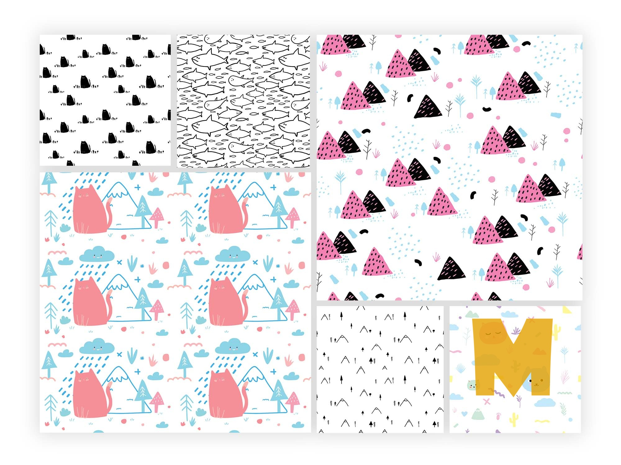 Playful Patterns Vector